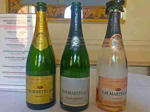 GH Martel Champagne Bottles